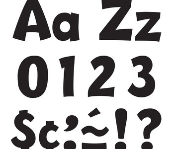 """4"""" Ready Letters Playful Combo Pack black"""