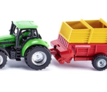 Siku Tractor with Pottinger Loader Wagon