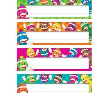 Name Plates: Sock Monkeys Variety Pack
