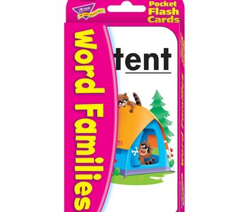 Pocket Flash Cards Word Families