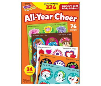 Scratch 'n Sniff All-Year Cheer Stickers