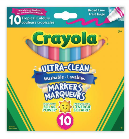 Ultra Clean Washable Markers Tropical 10pc