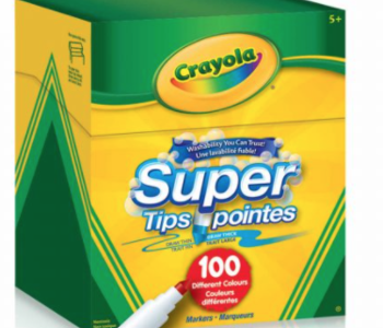 Crayola 100 Super Tips Markers