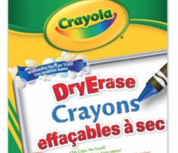 Crayola Dry Erase Crayons with Cloth & Built in Sharpener
