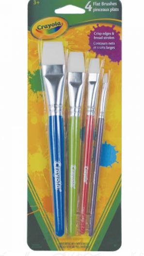 Crayola 4 Flat Brushes