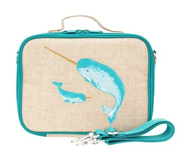 Teal Narwhal Lunch Box