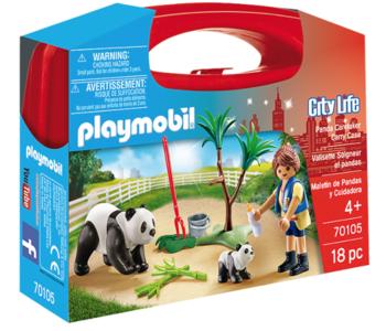 Playmobil- City Life- Panda Caretaker Carry Case