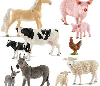 Schleich Farm Animals Assortment 10pc