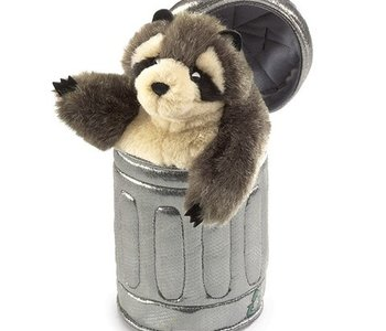 Raccoon In Can Puppet