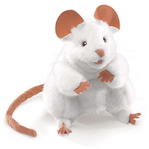 White Mouse Puppet
