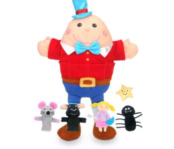 Nursery Rhymes Hand & Finger Puppet Set