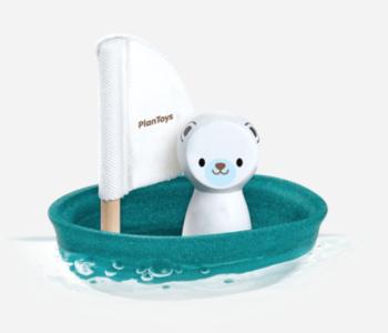 Polar Bear on a Sailboat Bath Toy