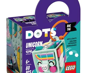 LEGO® Bag Tag-Unicorn-DOTS