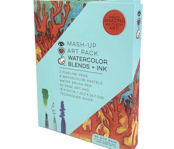 Mash Up Art Pack Watercolor Blends + Ink