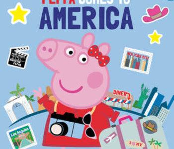Peppa Comes To America Sticker Book