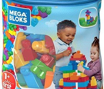 Mega Bloks Big Builder Bag 60pc blue