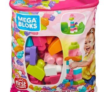 Mega Bloks Big Builder Bag 60pc pink