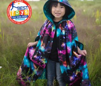 Galaxy Cloak Cape ages 5-6