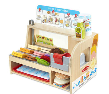 Wooden Slice & Stack Sandwich Counter