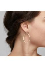 Pilgrim Earrings Fire Crystal  hoop Gold Pilgrim