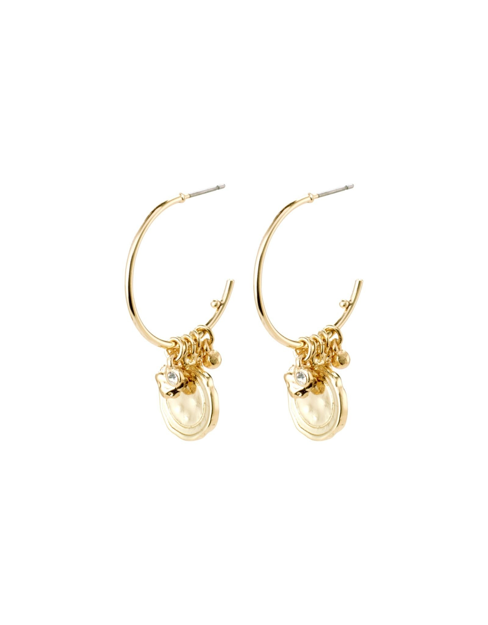 Pilgrim Earrings Air Gold Plated Pilgrim