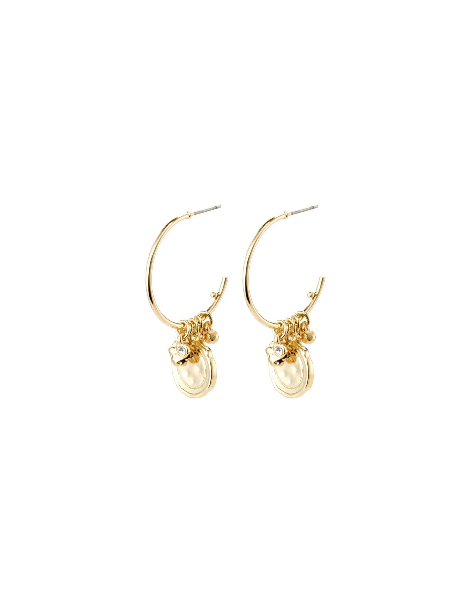 Pilgrim Earrings Air Gold Plated Pilgrim
