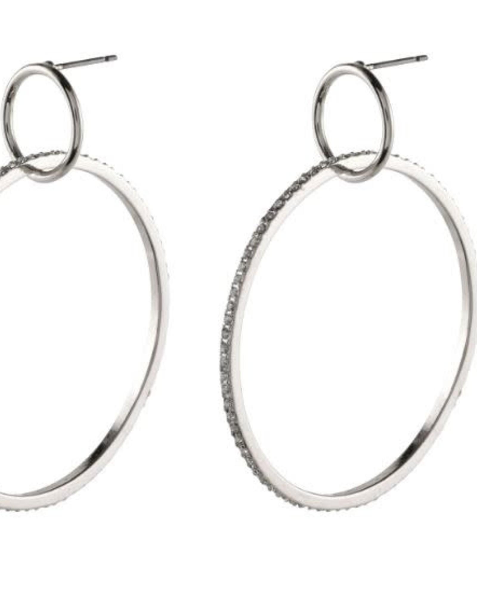 Pilgrim Earrings Fire Hoop Silver Pilgrim