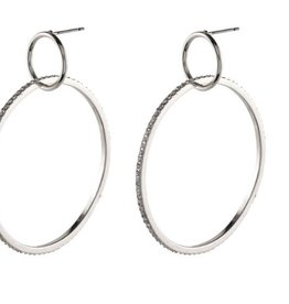 Pilgrim Earrings Fire Hoop Silver Pilgrim