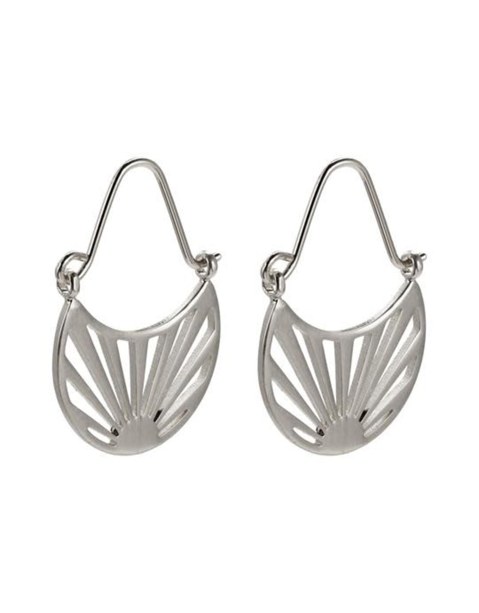 Pilgrim Earrings Fire Silver Pilgrim