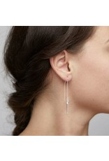 Pilgrim Earrings Crystal Silver Pilgrim