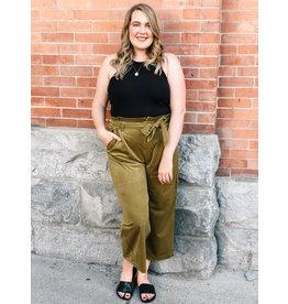 "Vero Moda Vero Moda -  Corduroy Paperbag Pants  (32"" length)"