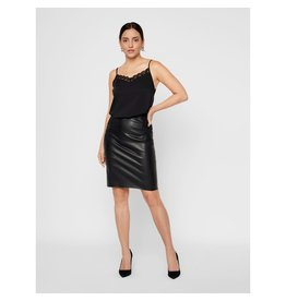 Vero Moda Vero Moda - High Waisted Faux Leather Skirt