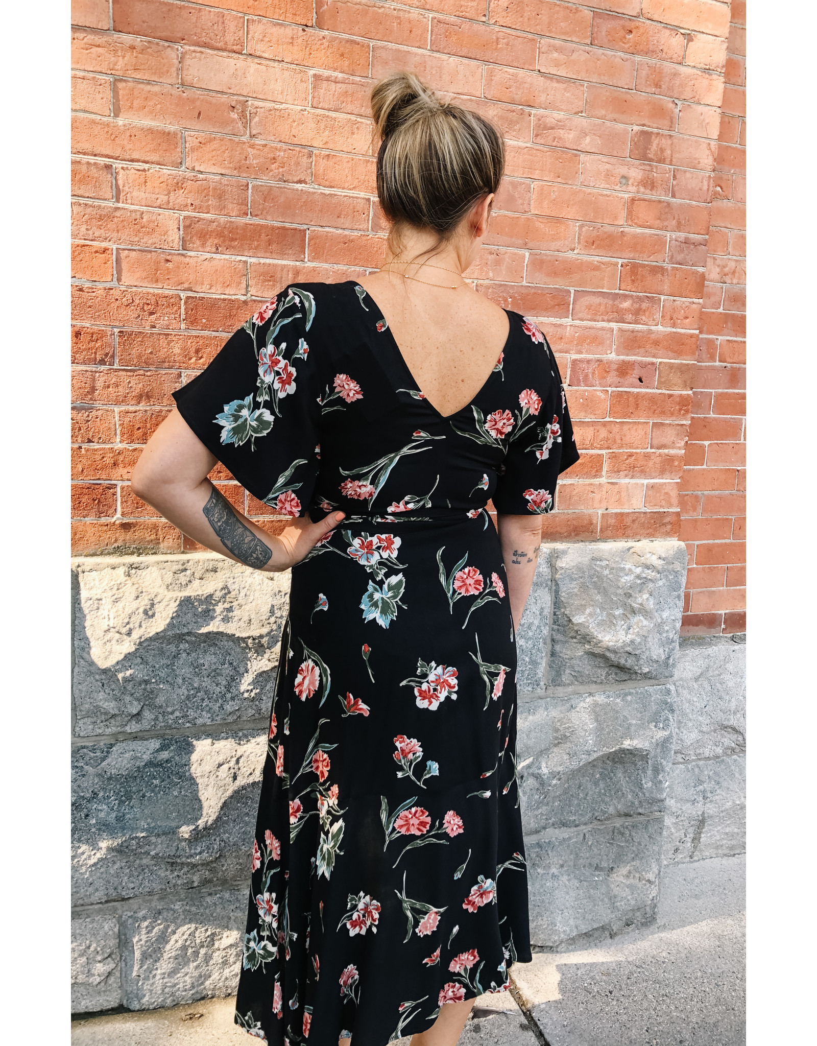 Saltwater Luxe Saltwater Luxe - Flutter Sleeve Maxi Dress