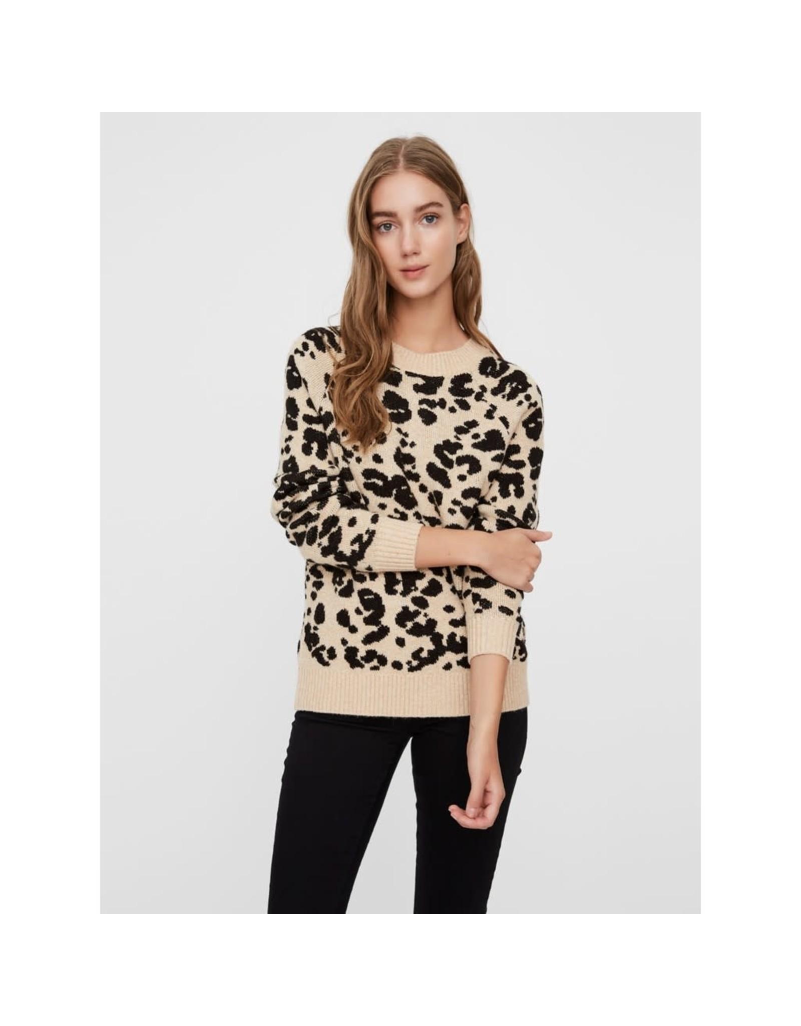 Vero Moda Emma Leopard Print Sweater
