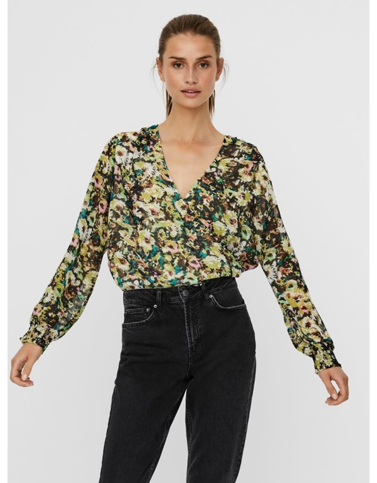 Vero Moda Nilla Floral Wrap Blouse