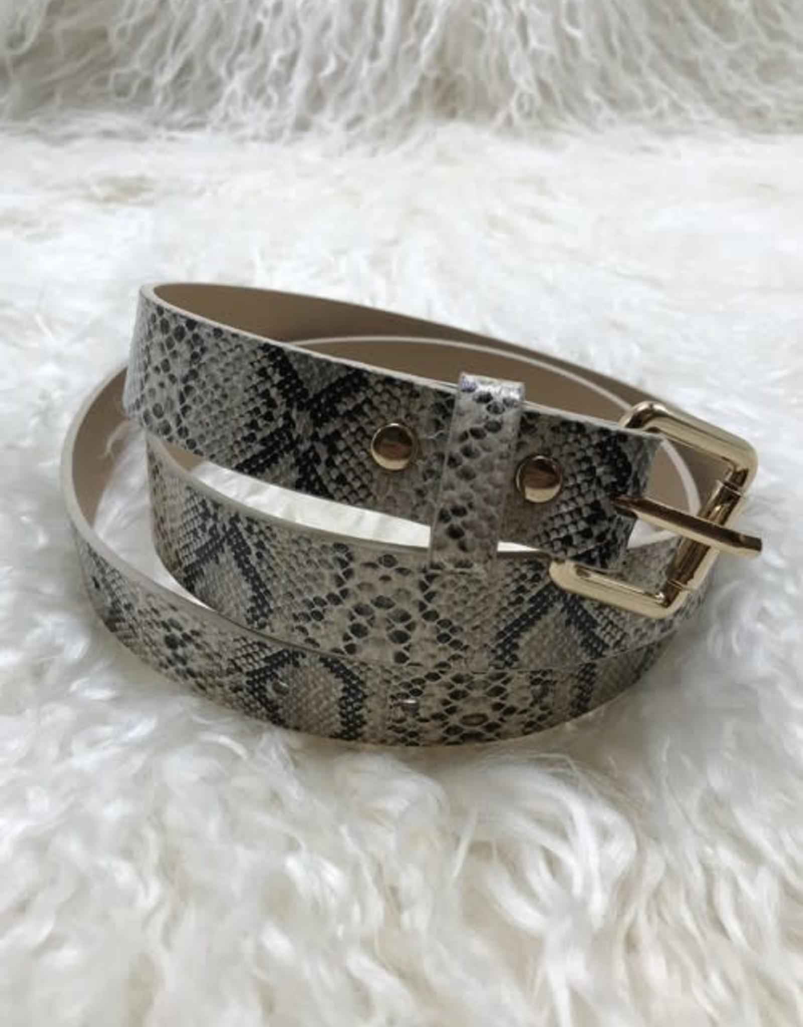 Ellison Eva Snake Skin Belt