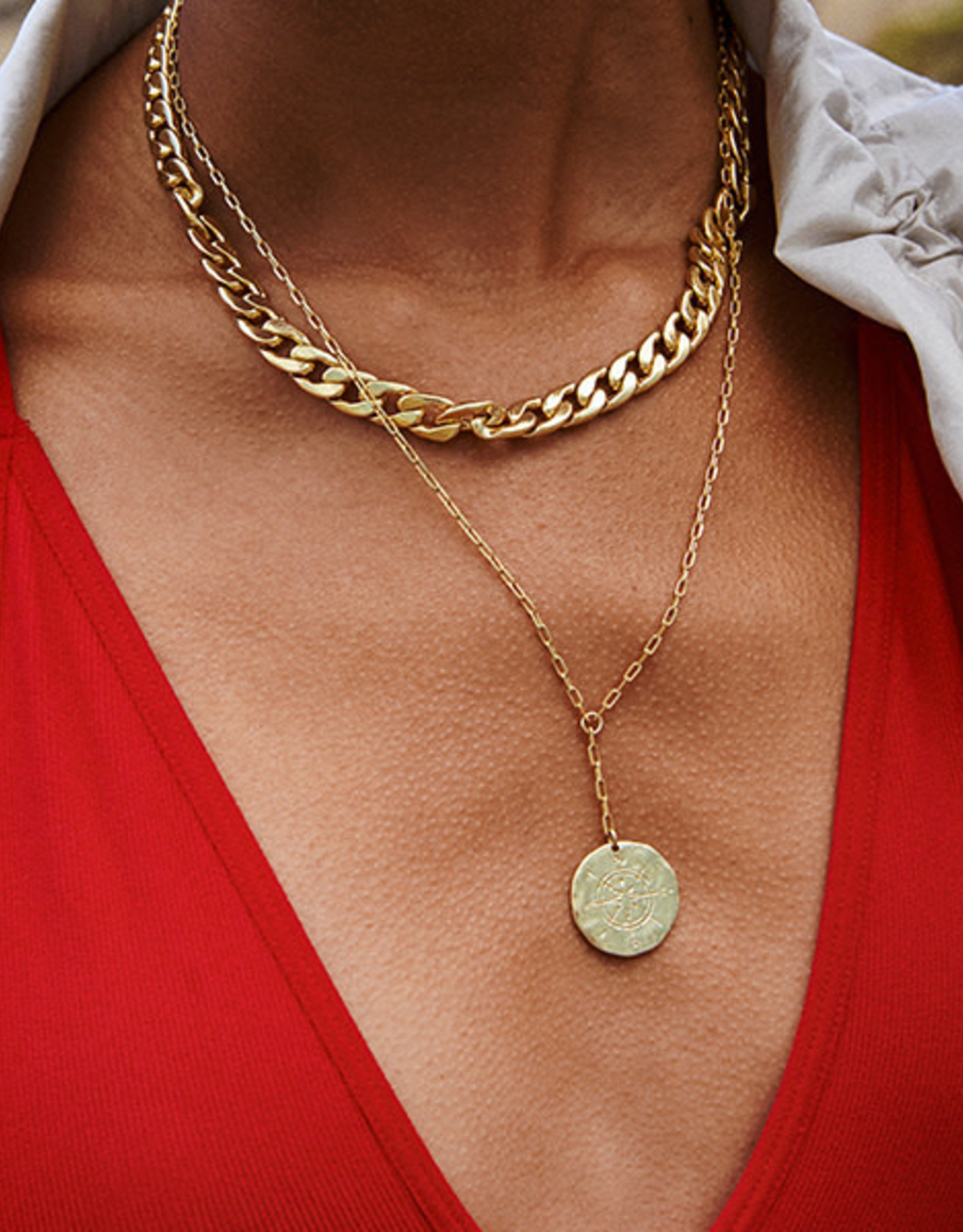 Pilgrim Compass 2-in-1 necklace