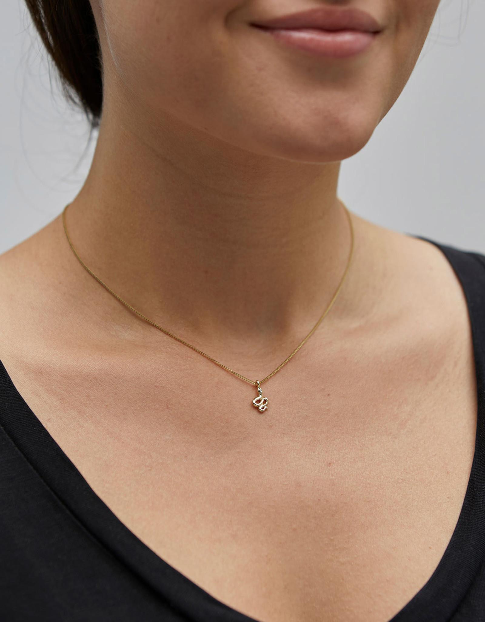 Pilgrim Blaze Snake Pendant Necklace