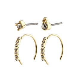 Pilgrim Kali Hoop & stud  Earring