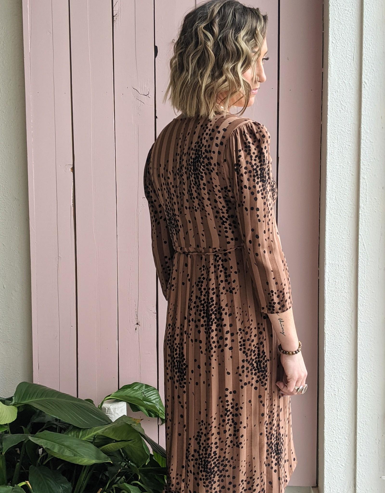 Saltwater Luxe Tahoe  Cheetah Wrap Dress
