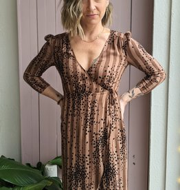 Saltwater Luxe Tahoe  Cheetah Wrap Dress
