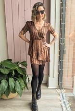Saltwater Luxe Harley Short Sleeve Cheetah  Dress
