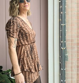 Saltwater Luxe Harley Short Sleeve Cheetah  Dress