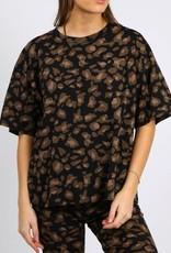 brunette the label Leopard Boxy Tee