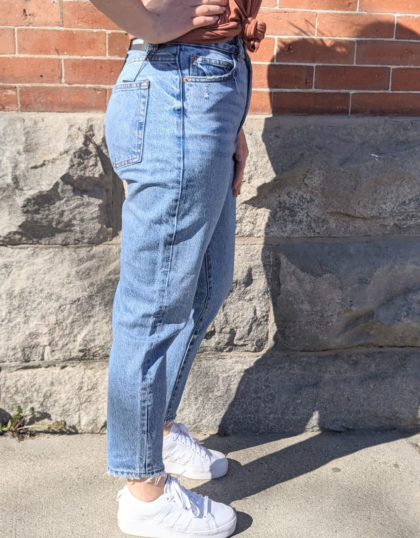 Dr. Denim Nora Mom Jean Worn Hem