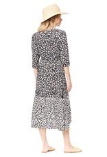 Saltwater Luxe Mikey 3/4 Sleeve Leopard Wrap Dress