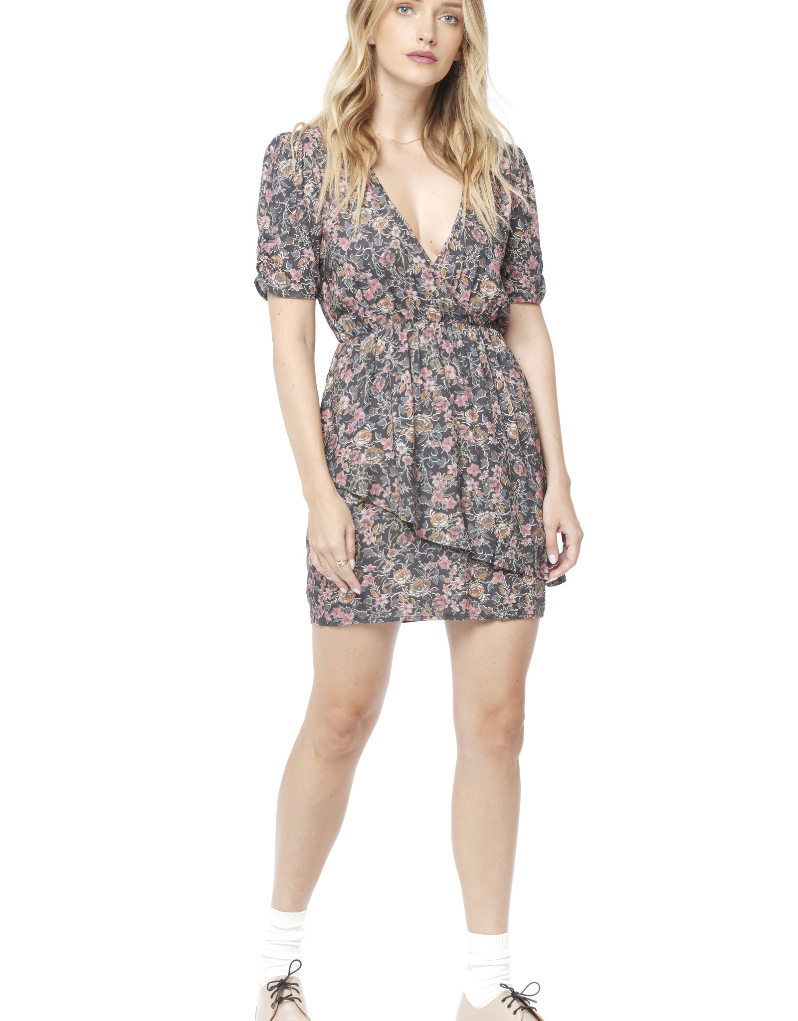 Saltwater Luxe Harley Short Sleeve Floral Mini Dress