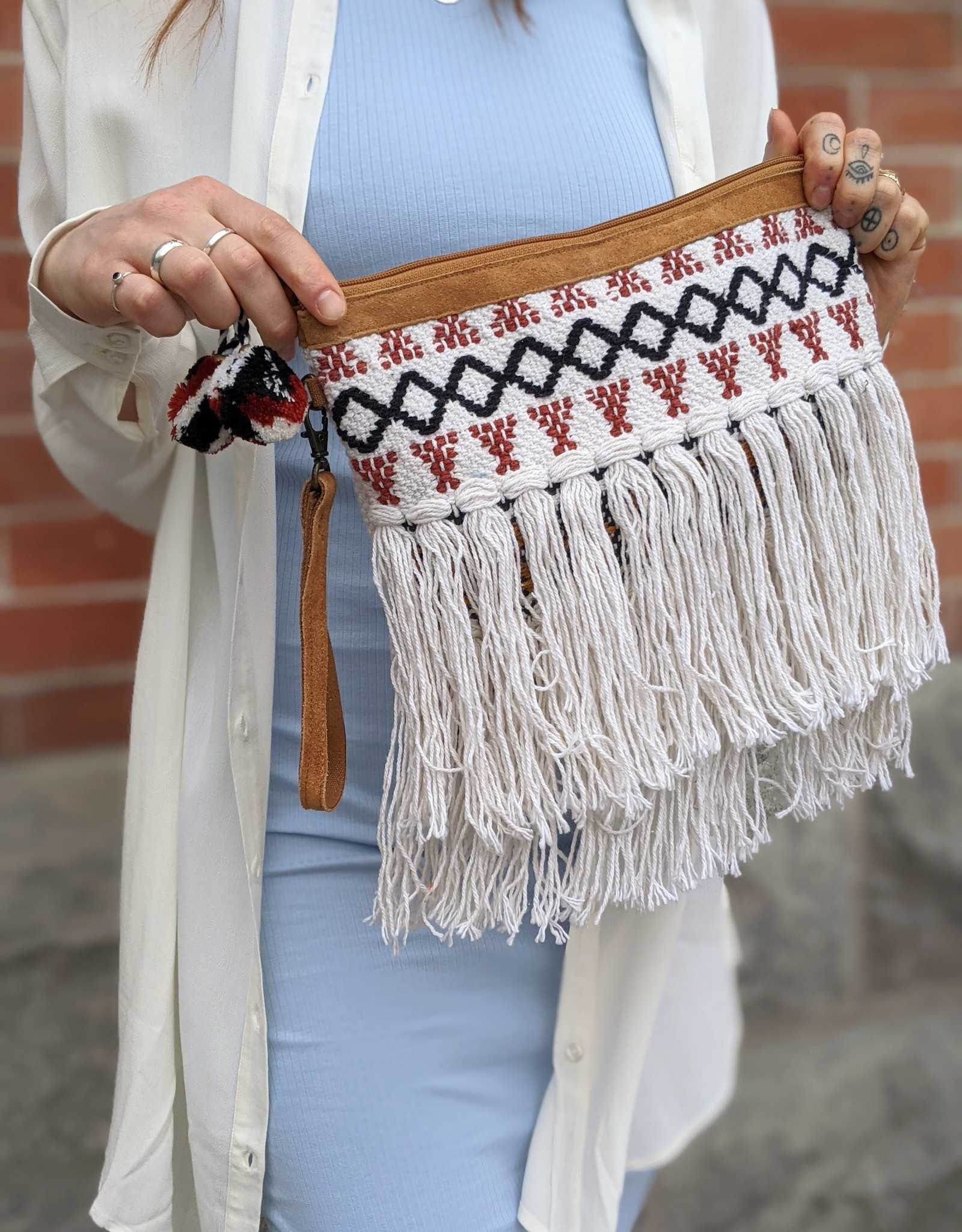 Love Stitch Woven Bag