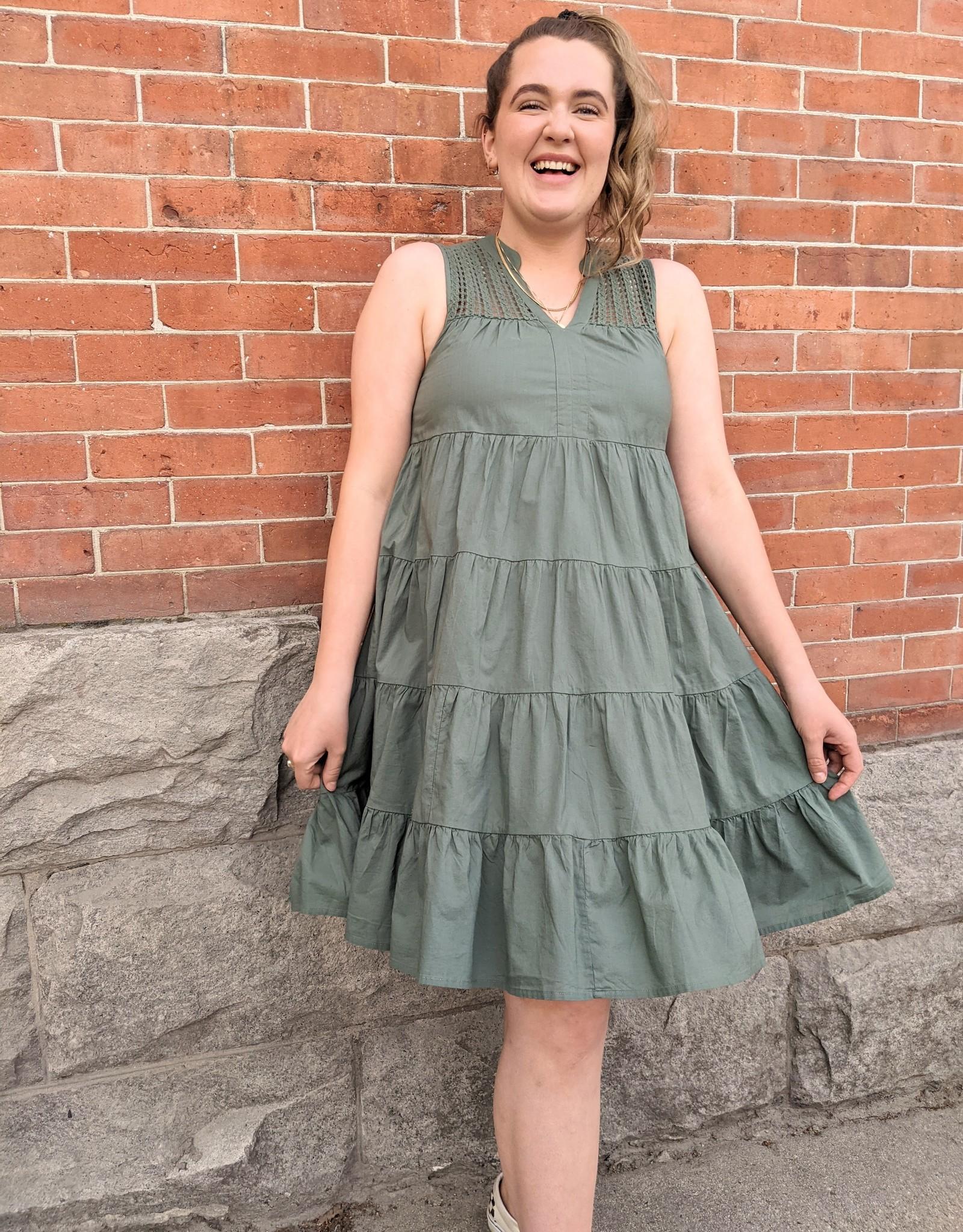 Vero Moda Loretta Babydoll Ruffled Smock Dress