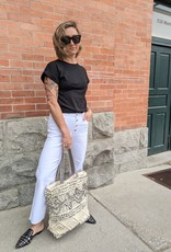 Mavi Alisha High-Rise Wide Leg Exposed Button-Fly